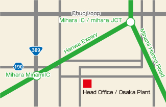 Head Office / Osaka Plant Map